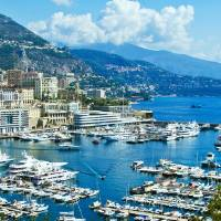 Monte Carlo Harbour Art Prints & Posters by Mark and Judy Coran