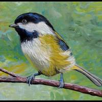 A Chickadee Dee Dee Art Prints & Posters by Cheryl Marie