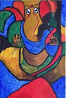 Lord Ganesha Colorful Acrylic Painting