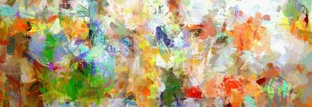 Abstract Collage Panoramic Art