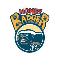 Honey Badger Mascot Claw Circle Retro