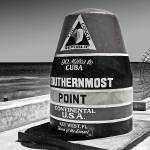 """Key West Florida to Cuba Distance Marker"" by WilshireImages"