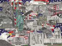 Drawing of American Landmarks, Statue of Liberty