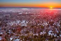 Winter Morning Sunrise Over Boulder Colorado Unive