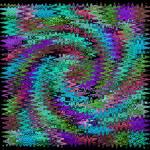 """Quilt Swirl Aqua"" by KsWorldArt"