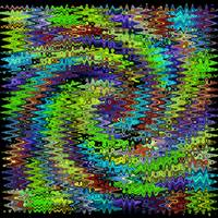 Quilt Swirl Lime