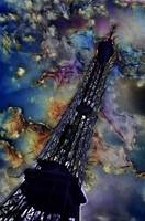 Vintage Eiffel Tower Abstract