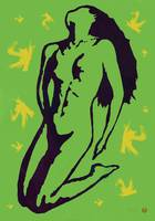 Nude Pop Art Paper Cut Poster