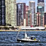"""Chicago IL - Sailing on Lake Michigan"" by susansartgallery"