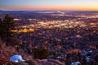 City Of Boulder Colorado Downtown Scenic Sunrise V