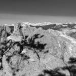 """Colorado Rocky Mountain Scenic View Black White"" by lightningman"