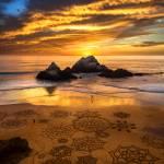 Sunset and Sand Art