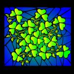 """Stained Glass Shamrocks"" by elledeegee"