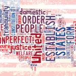 """US Word Cloud Map - Preamble"" by WrightFineArt"