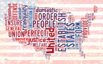 US Word Cloud Map Preamble By Paulette Wright - Us cloud map