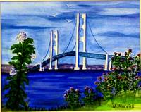Mackinac Bridge in Spring