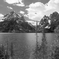 """Jenny Lake  Black And White Photography"" by Photography Moments"