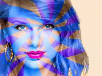 Taylor Swift Blue Horizontal