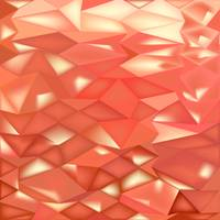 Orange Crystals Abstract Low Polygon Background