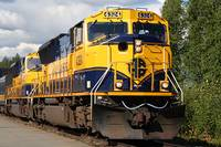 Alaska Railroad Train Locomotive Engine