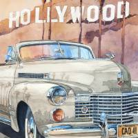 Hollywood Caddy Art Prints & Posters by Bill Drysdale