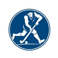 Field Hockey Player Running With Stick Icon