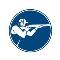 Trap Shooting Shotgun Circle Icon
