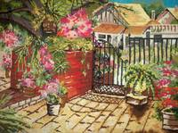 Courtyard Needlepoint