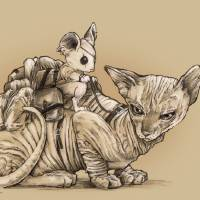 The Last Mouse and Cat Art Prints & Posters by Derek Chatwood