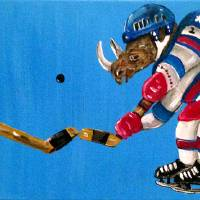Miracle On Ice, with Rhinoceroses Art Prints & Posters by Pollux (Paul Morris)