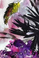 Abstract Floral Black and Lilac