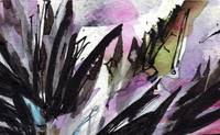 Abstract Floral Black and Lilac 2