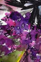 Abstract Floral Lilac and Black 3