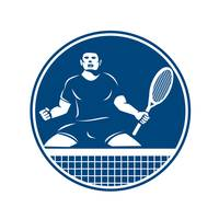 Tennis Player Racquet Fist Pump Icon