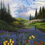 """Mount Rainier Meadow"" by Dullinger"