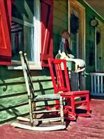 Two Rocking Chairs on Porch