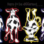 """""""Dare to be Different Cows"""" by crazyabouthercats"""