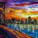 """Bridge arcoss the city"" by alexgallery"