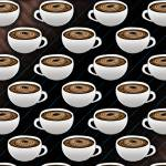 """Coffee Cups and Stripes"" by bloomingvinedesign"