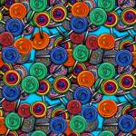 """Colorful Lollipops"" by bloomingvinedesign"