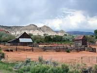 Old farm buildings, southern Utah, USA
