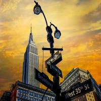 Midtown Sunset Art Prints & Posters by Chris Lord