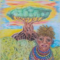 Maasai Morning by Sandy Sherman Art Prints & Posters by Lamp Arts Program