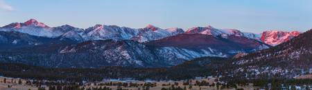Rocky Mountain National Park First Light Panorama