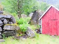 Red House & Rocks