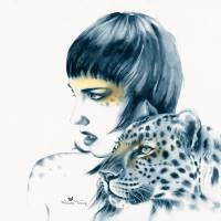 Leopard Totem Art Prints & Posters by Michelle Tracey