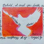 """Matthew 10 16 white Dove, orange,yellow, pink (enh"" by PjCreates"