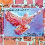 """Matthew 10 16 splattered Dove, animal print frame"" by PjCreates"