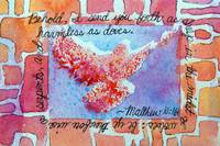 Matthew 10 16 splattered Dove, animal print frame