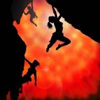 rock climbing in the sun Art Prints & Posters by Jane (Jinx) Tellam